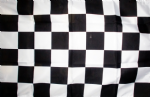 "CHECKERED BLACK & WHITE - 18"" x 12"" flag"